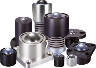 Pneumatic ball transfers, rails, pneumatic stops & linear rollers.